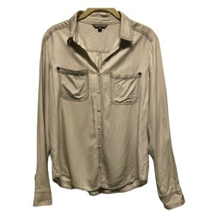 Rubbish stone grey button up blouse